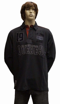 "Sweater met extra lange mouwen "" Quebec Ice Hockey ""  Zwart"