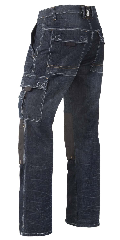 """Brams Paris jeans  """" Sander """" Kniestukken / zakken   Dark"""