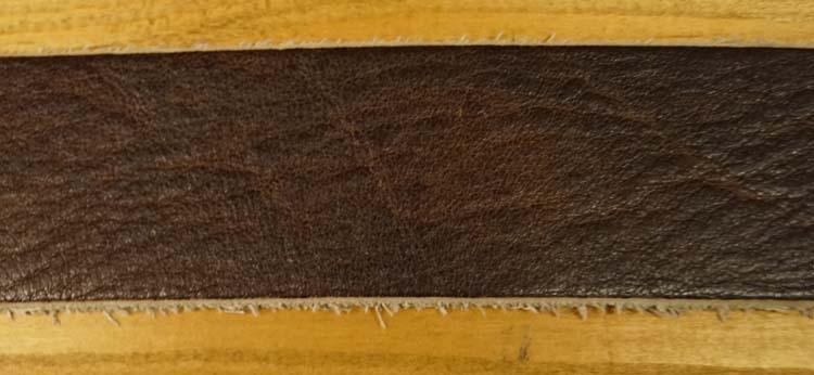 """Leren jeans riem  """"  Bruin met structuur  397  """" 4 cm breed"""