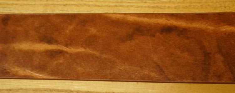 """Leren jeans riem  """"  Cognac gevlamd  377  """" 4 cm breed"""