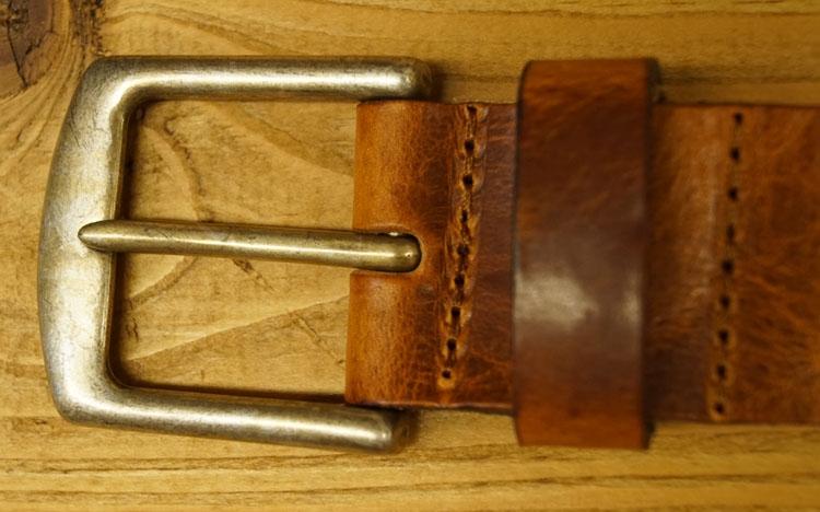 """Leren riem   """" Beige / bruin met structuur  """" 4 cm breed"""