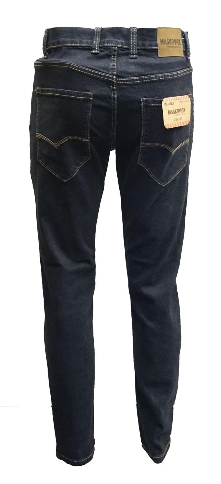 "Maskovick stretch jeans  "" Milano slim fit "" Blue black"