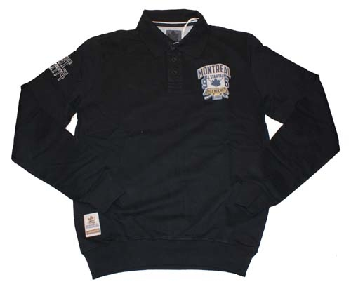"""Sweater met extra lange mouwen  """"  Montreal """"  Zwart"""