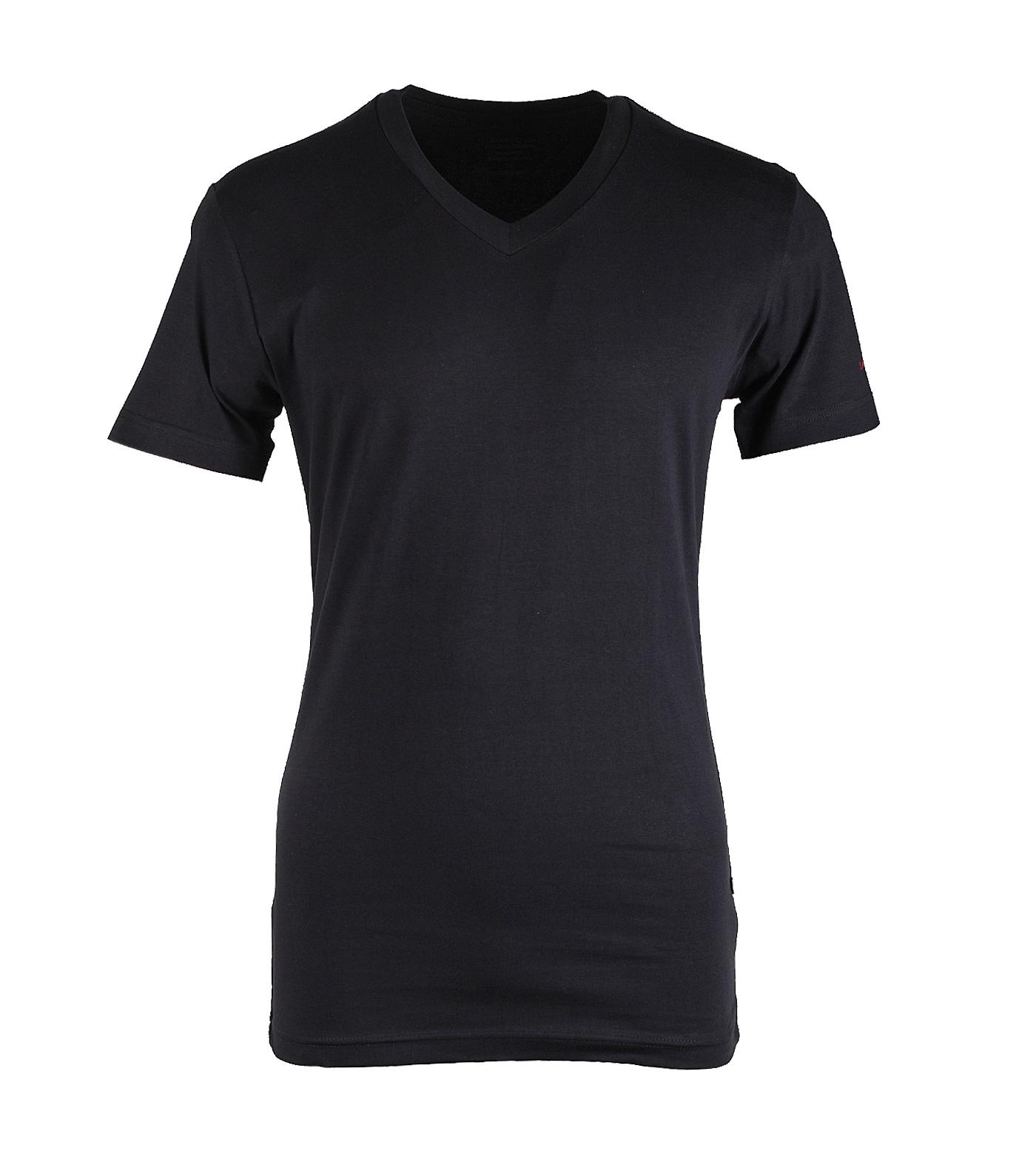"""V-hals  T-shirt met korte mouwen  """" Zwart """""""
